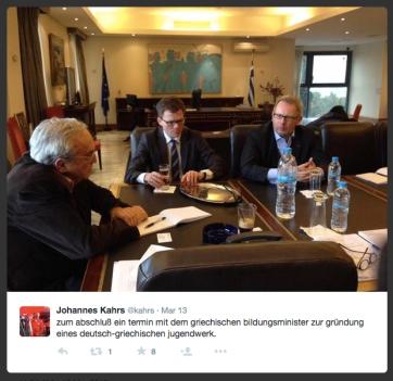 Tweet vom 13. März 2015
