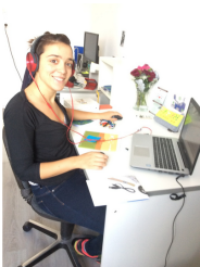 "START-Stipendiatin Ioanna Chatzigeorgiou im KulturBahnhof Viktoria in Itzehoe mit ihrem Projekt ""AudioPlexus"""