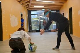 """Die paraolympische Disziplin """"goalball"""", eine Ballsportart für Menschen mit Sehbehinderungen."""