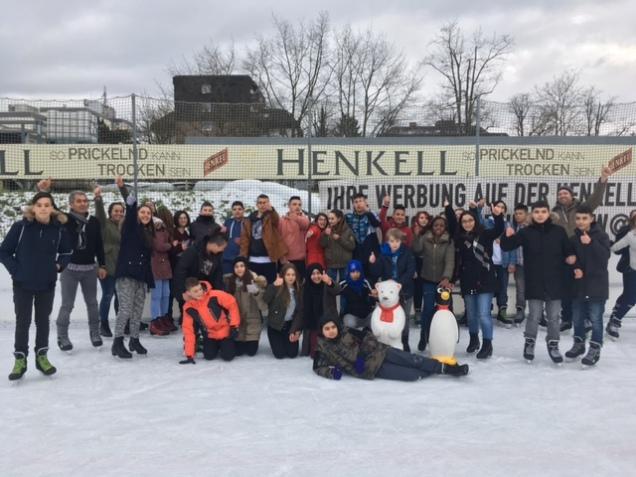 Januar 2018 Eisbahn