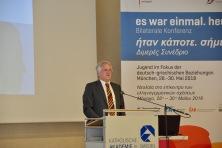 Thomas Thomer, Unterabteilungsleiter im BMFSFJ eröffnet die Konferenz.