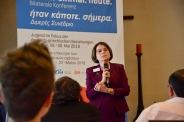 Vassilia Triarchi-Hermann von der Stiftung Palladion als eine der Kooperationspartner der Konferenz.