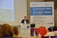 Prof. Miltos Pechlivanos vom Centrum Modernes Griechenland. FU Berlin.