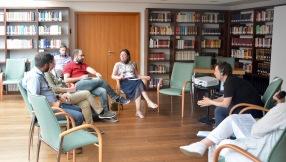Beim Workshop von Martin Heigl, ehem. Gewerkschaftssekretär der IG-Metall München ging es um die Sicherung der Rechte griechischer Arbeitnehmer in Deutschland.
